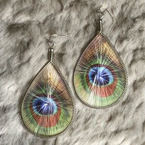 Peacock Woven Earrings
